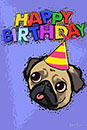 Happy PUG Birthday【ポストカード】